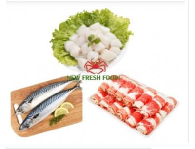 Combo 8: 500Gr Cồi Sò Điệp 60 - 80 + 1Kg Cá Saba Nhật + 500Gr Ba Chỉ Bò Mỹ Cuộn