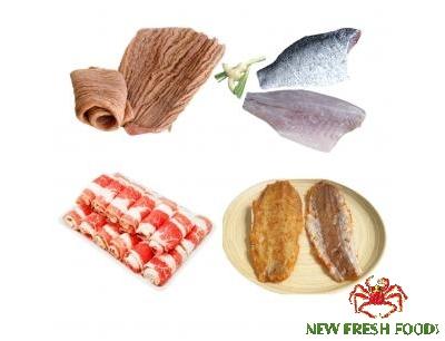 Combo 27: 1 Kg Bao Tử Cá Ngừ + 1 Kg Cá Chẽm Fillet + 500Gram Khô Cá Mối Tẩm Gia Vị Đặc Biệt + 500Gram Ba Chỉ Bò Mỹ Cuộn