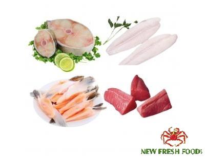 Combo 29: 1Kg Vây Cá Hồi + 1 Kg Thịt Cá Ngừ + 1Kg Cá Bớp Cắt Khoanh + 1 Kg Cá Basa Fillet