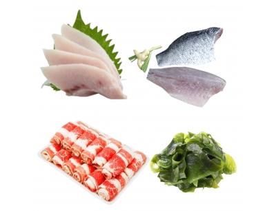 Combo 59:500Gr Lườn Cá Cờ Kiếm Cắt Lát + 500Gr Cá Chẽm Fillet + 500Gr Ba Chỉ Bò Mỹ Cuộn + 300Gram Rong Biển Tươi